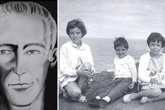 Фоторобот подозреваемого и дети Бомонт в 1965-м году