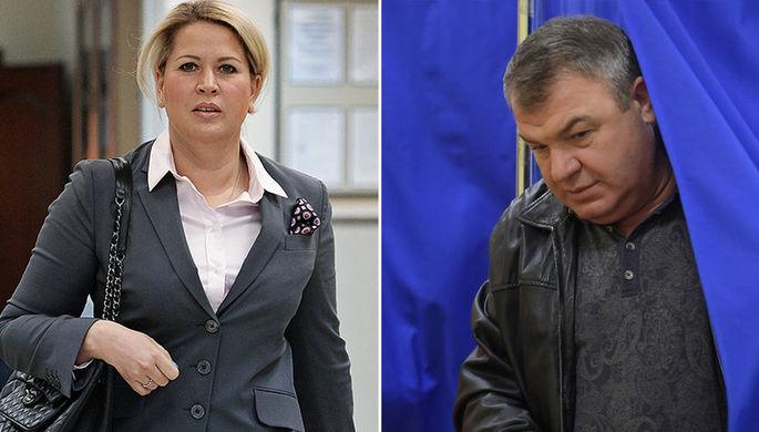 Евгения Васильева и Анатолий Сердюков, коллаж «Газеты.Ru»