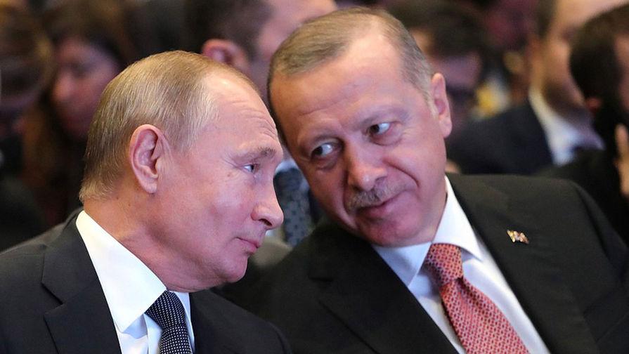 Путин и Эрдоган поговорили по телефону о Сирии