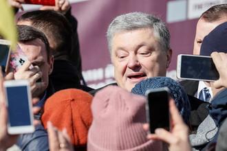 Президент Украины Петр Порошенко во время предвыборного мероприятия в Киеве, 17 марта 2019 года