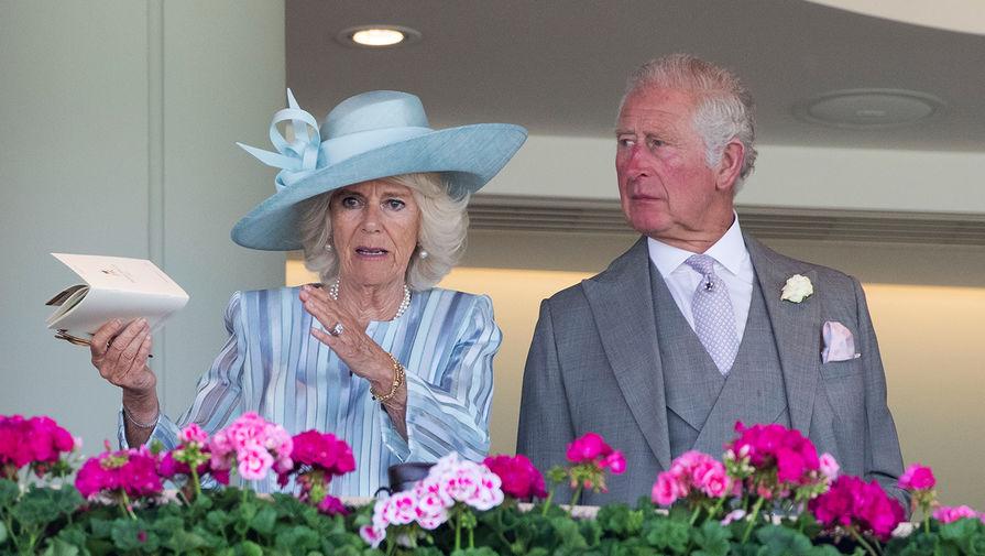 Чарльз, принц Уэльский и Камилла, герцогиня Корнуолльская на скачках Royal Ascot, 2021 год