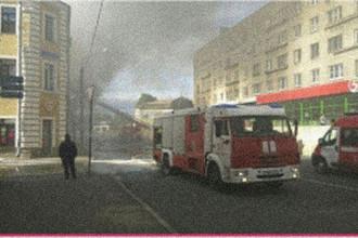 Пожар в торговом центре «Меньшиков холл» в Санкт-Петербурге