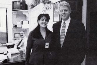 Моника Левински и Билл Клинтон, 1995 год