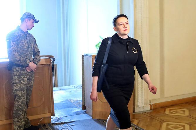Депутат Верховной рады Украины Надежда Савченко в здании Верховной рады, 23 апреля 2019 года