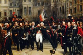 Прощание Наполеона с гвардией 20 апреля 1814 года