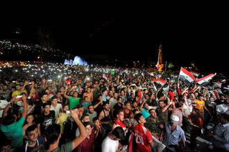 Болельщики сборной Сирии по футболу