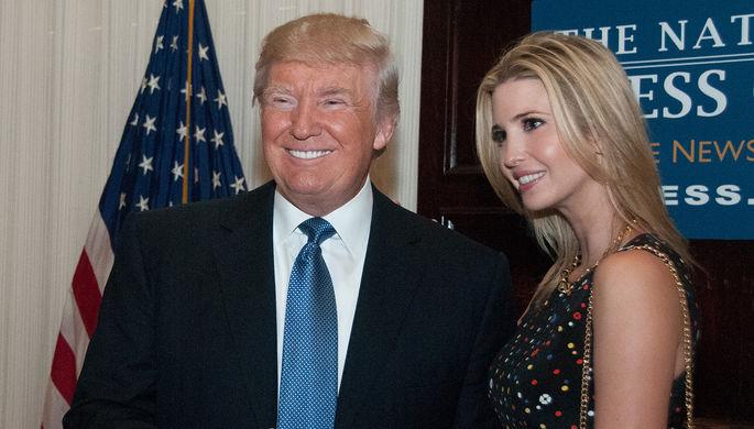 Иванка Трамп с отцом