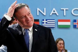 Госсекретарь США Майк Помпео на встрече министров иностранных дел стран-членов НАТО в Брюсселе