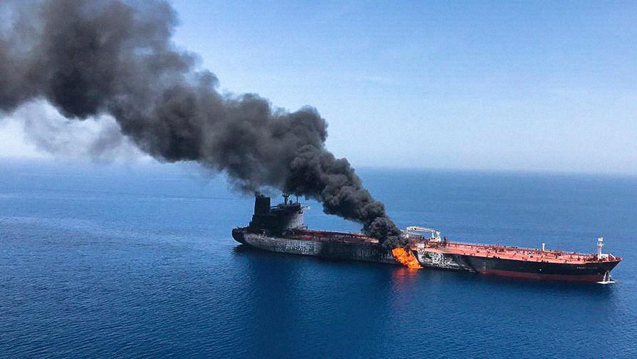 Причину пожара на танкерах в Оманском заливе назвали в Иране