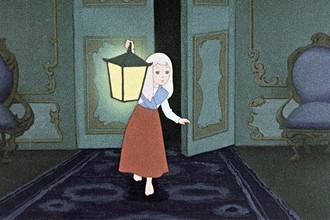 Репродукция рисунка к мультфильму «Снежная королева», 1958 год