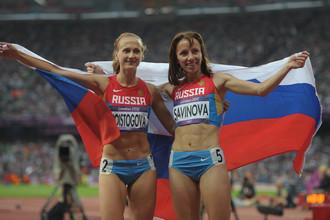 После финального забега на Олимпиаде-2012 Мария Савинова (справа) и Екатерина Поистогова еще не знали, какое разочарование им предстоит пережить годы спустя