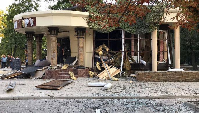 Кафе «Сепар» в Донецке, после взрыва в котором погиб глава ДНР Александр Захарченко, 31 августа 2018 года
