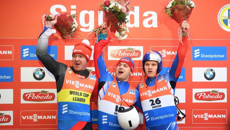 Российские саночники спели гимн страны а капелла на чемпионате Европы