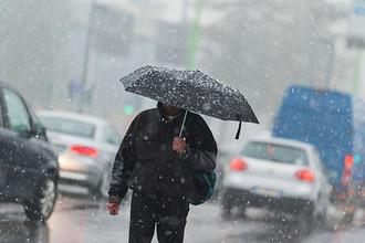 Ожидаются осадки в виде дождя и мокрого снега