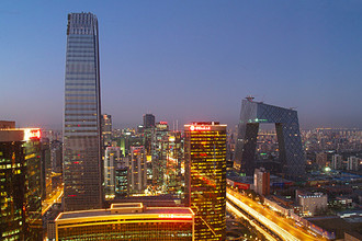 Вид на деловой квартал Пекина, 2012 год