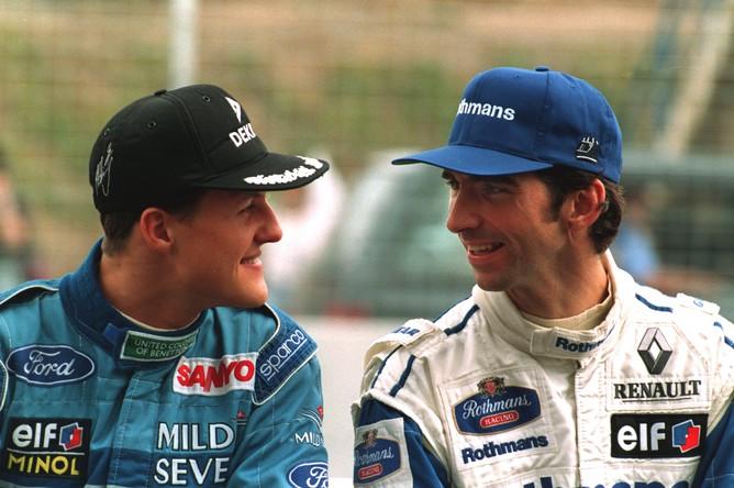 Шумахер и будущий чемпион мира в составе «Уильямса» Деймон Хилл