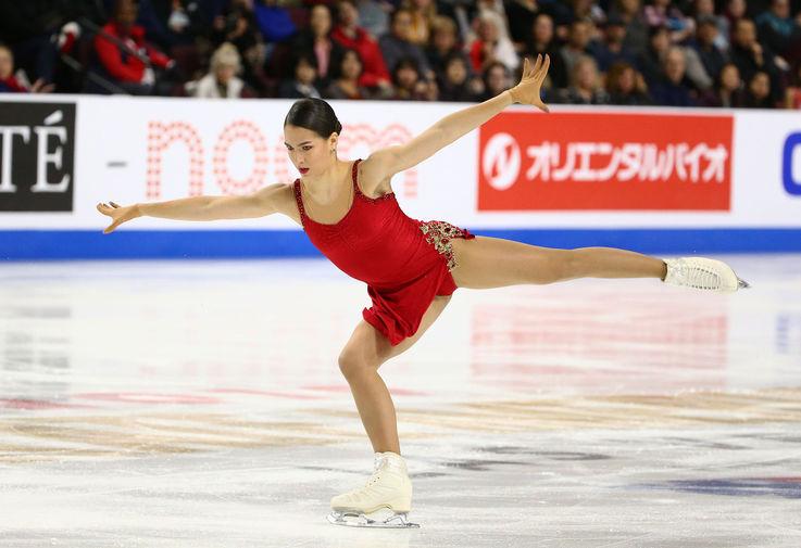 Россиянка Станислава Константинова во время исполнения произвольной программы на Skate America