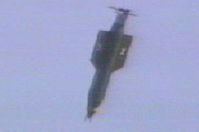 Испытание бомбы GBU-43/B в 2003 году