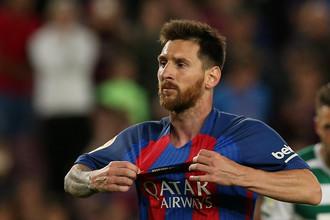 Полузащитник «Барселоны» Лионель Месси в матче заключительного тура чемпионата Испании против «Эйбара»