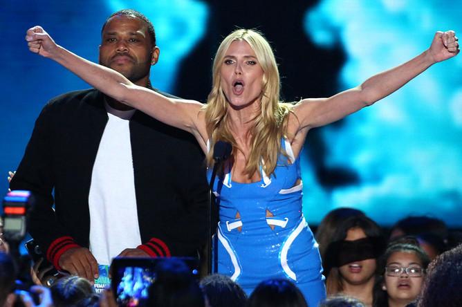 Хайди Клум и Энтони Андерсон на церемонии на Kids' Choice Awards 2016