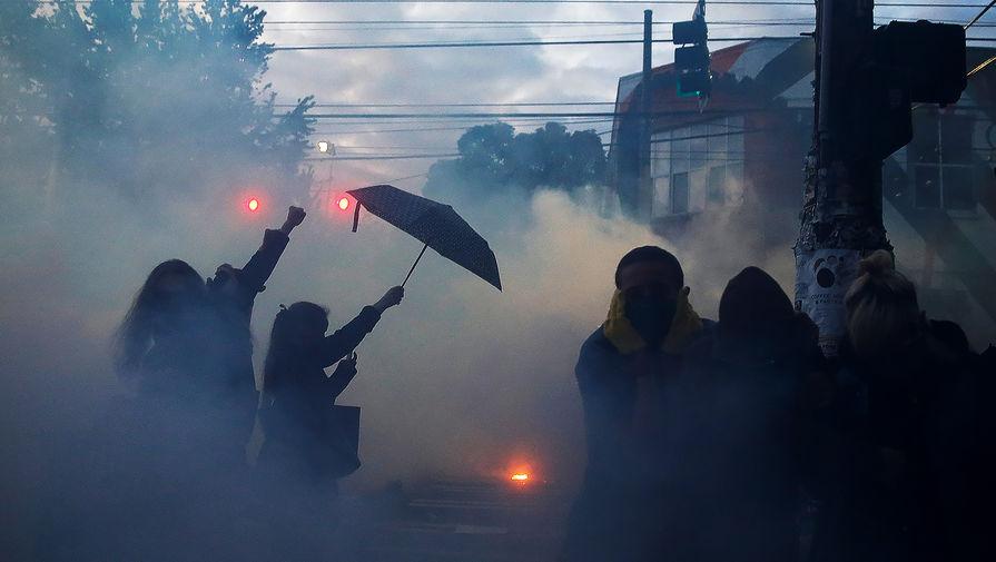 Во время протестов в Сиэтле, 1 июня 2020 года