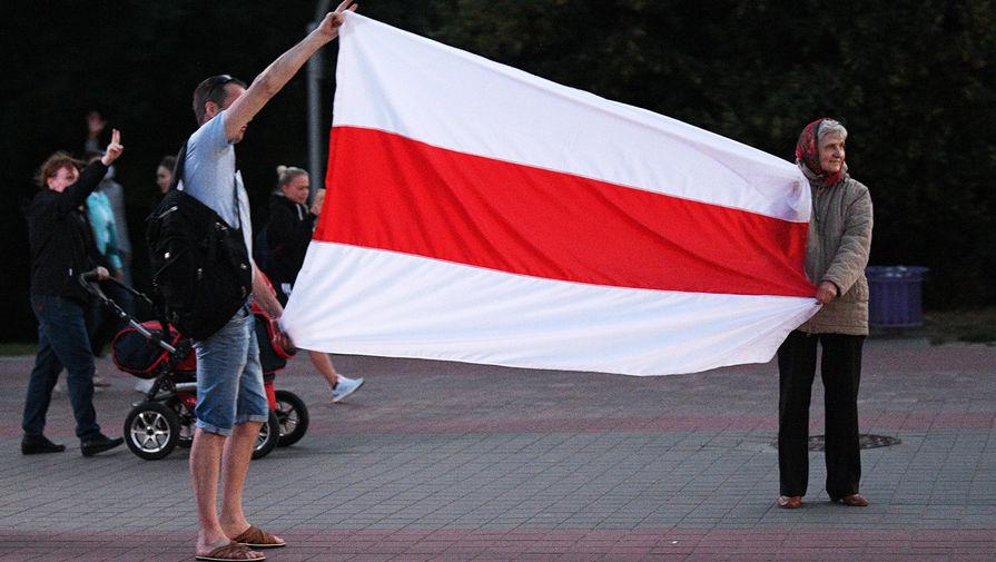 Во время акций протеста в Минске после президентских выборов, 11 августа 2020 года