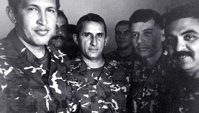 Уго Чавес в тюрьме, арестованный после попытки переворота в 1992 году