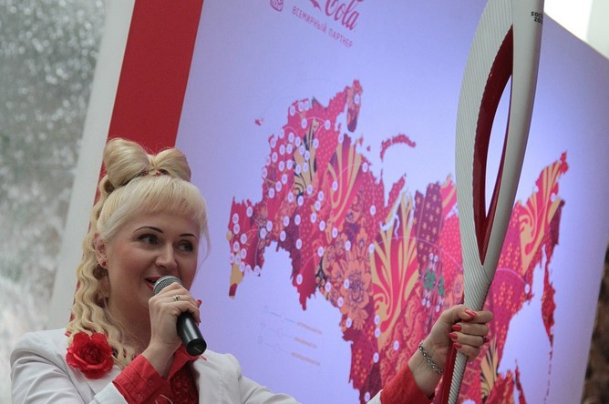 Презентация олимпийского факела в Красноярске