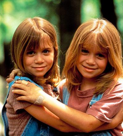 Сестры Олсен в детстве
