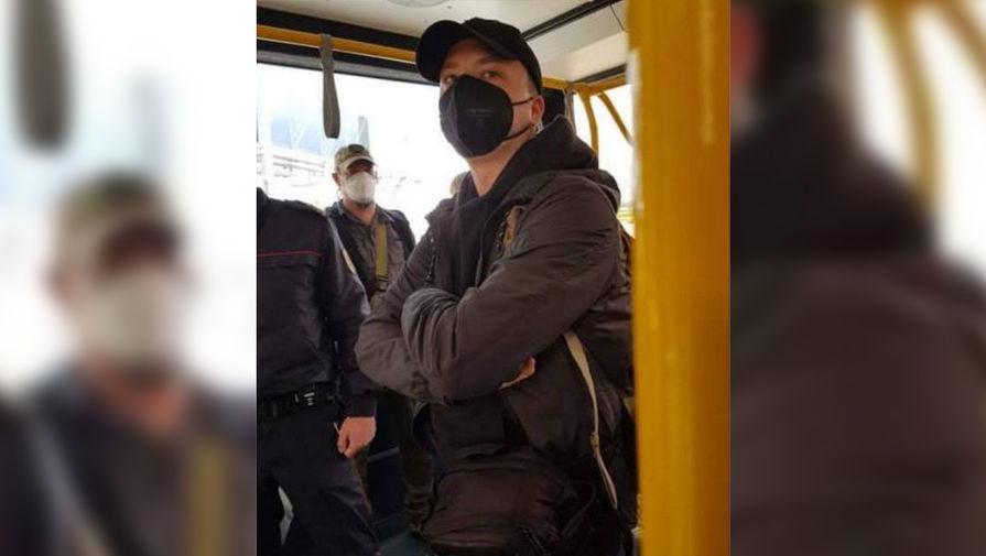 Роман Протасевич в аэропорту Минска, 23 мая 2021 года