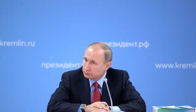 Президент России Владимир Путин на заседании Совета при президенте по развитию физической культуры и...