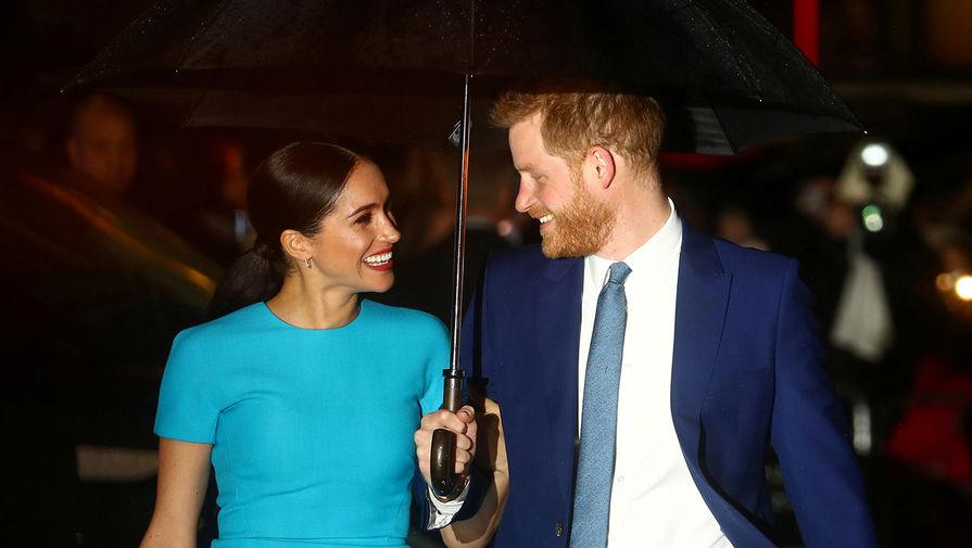 Герцогиня Сассекская Меган и принц Гарри во время мероприятия в Лондоне, 5 марта 2020 года