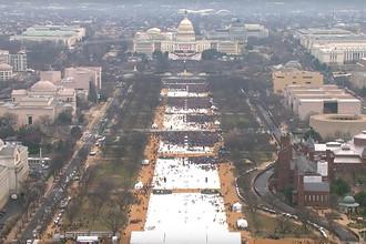 Капитолий перед инаугурацией Дональда Трампа, 20 января 2017 года