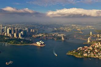 Австралийский Сидней с высоты птичьего полета