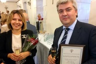 Алексей Гореславский с женой Марией, шеф-редактором Euromag
