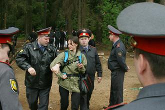 В Жуковском разогнан лагерь защитников Цаговского леса