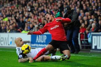 Валлийское дерби в английской премьер-лиге окончилось победой «Кардиффа»