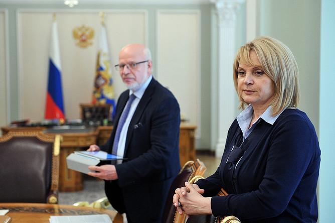 Михаил Федотов и Элла Памфилова