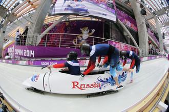 Экипаж Александра Касьянова на Олимпийских играх в Сочи