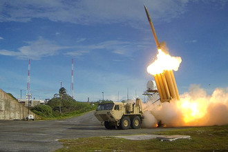 Тестовый запуск ракеты американским комплексом THAAD, архивный снимок