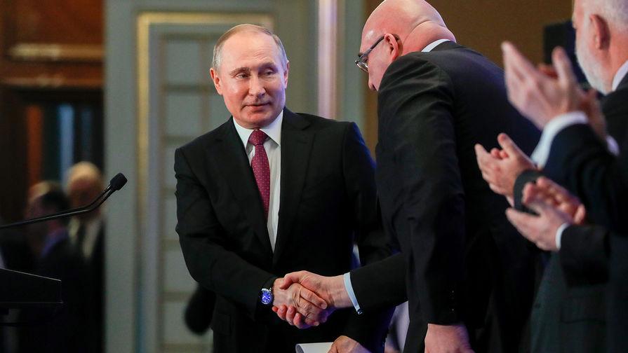 Владимир Путин на XXVII отчетно-выборном съезде Российского союза промышленников и предпринимателей в рамках XI Недели российского бизнеса, 9 февраля 2018 года