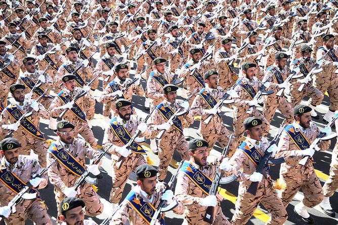 Военный парад в Ахвазе, Иран, 22 сентября 2018 года