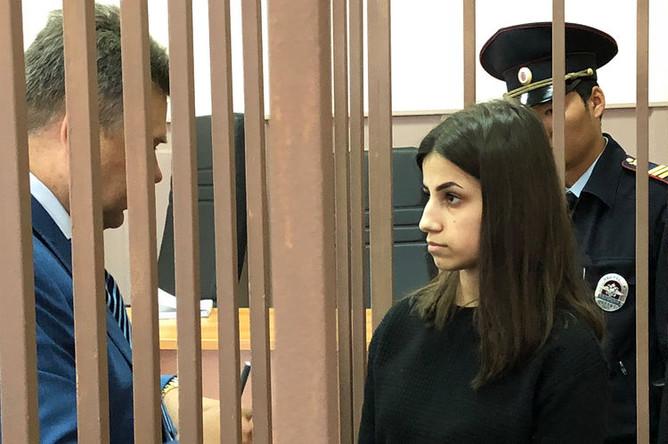 Ангелина Хачатурян в Басманном суде, 27 сентября 2018 года