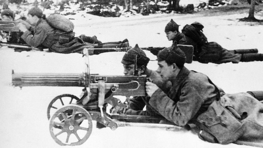 Пулеметчики на огневой позиции, декабрь 1939 года
