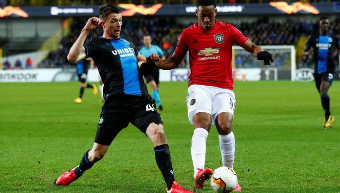 Эпизод матча «Манчестер Юнайтед»- «Брюгге»
