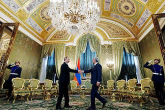Владимир Путин и президент Армении Серж Саргсян
