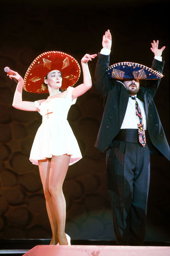 Кабаре-дуэт «Академия»- Лолита Милявская и Александр Цекало, 1992 год