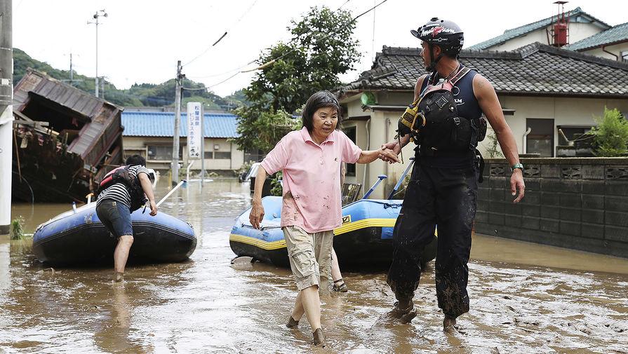 Последствия наводнения в Японии, 5 июля 2020 года