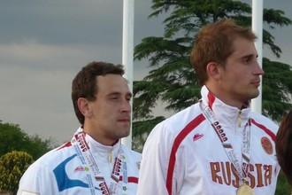 Андрей Моисеев (слева) и Александр Лесун выиграли первое-второе места на ЧМ