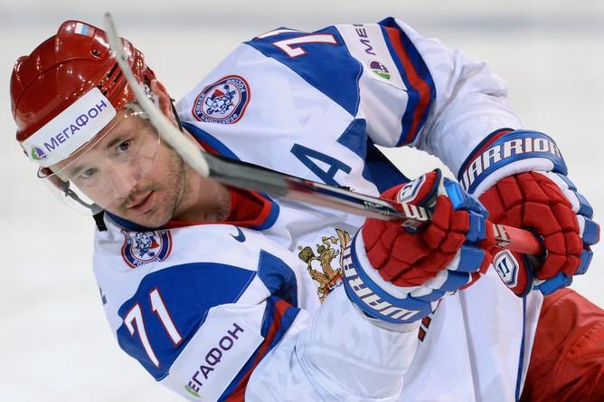 Илья Ковальчук стал героем матча между сборными России и Германии- на его счету три шайбы